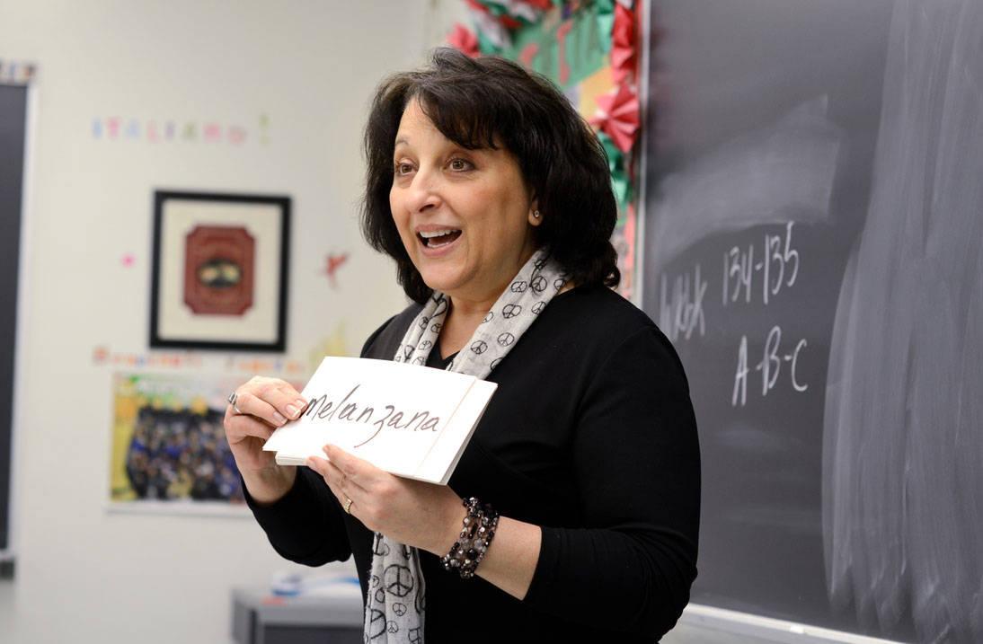Spanish teacher instructs class