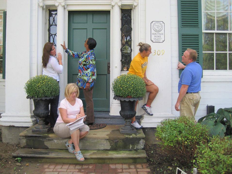 Preservation students work on site at historic landmark