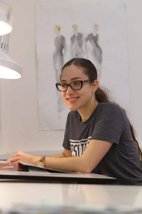 Fashion merchandising degree student in class