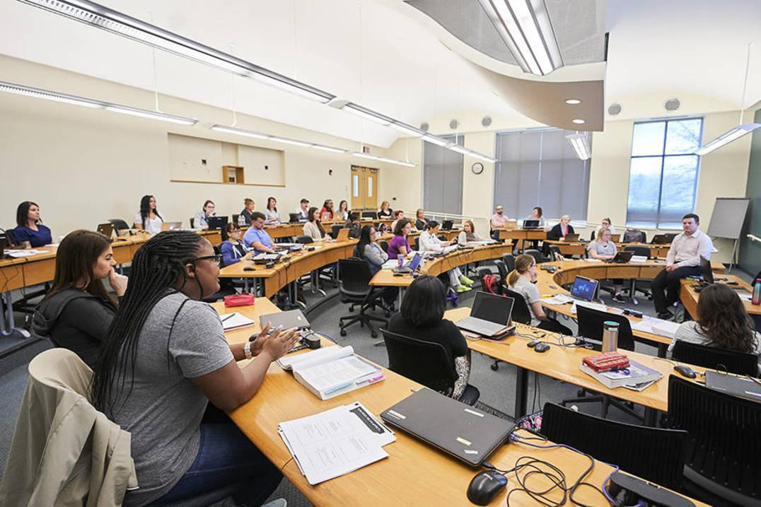 MSN program class at Ursuline College, #2 nursing college in Ohio
