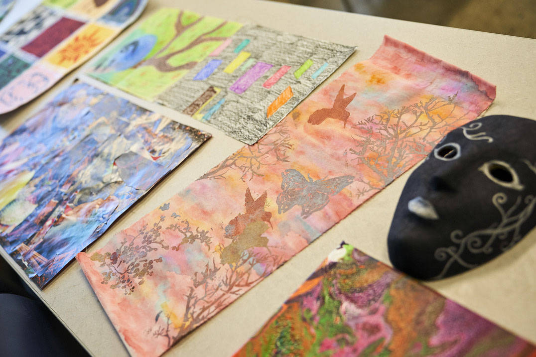 Samples of Ursuline art therapy program student work