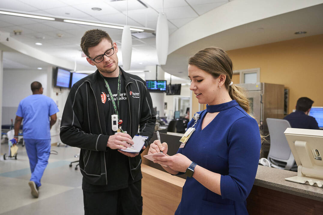 Two nurses in a hospital