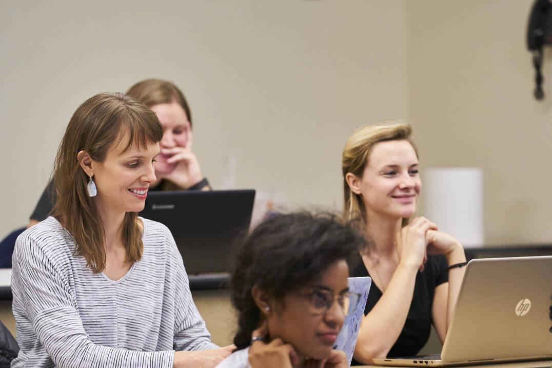 MSN nursing students in class